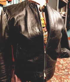RETRO EXPRESS 90'S Boho GYPSY Distressed Women's Leather Black moto Jacket Size4 #Express #Boho