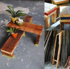 Upcycled outdoor furniture