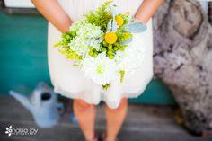 San Diego wedding | Flowers by Rosemary Duff Florist | wedding florals | white flowers | wedding greenery | wedding flowers | wedding day flowers | Craspedia's | bridesmaid