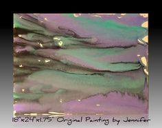 Modern Abstract Art Purple Blue and Black Painting by MarkIsMyMuse