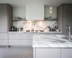 piet-jan-van-den-kommer-tailor-made-wooden-kitchen-worktop-made-from-marble-k - The world's most private search engine Luxury Kitchen Design, Luxury Kitchens, Interior Design Kitchen, Modern Interior, Home Kitchens, Kitchen Decor, Tuscan Kitchens, Cuisines Design, Luxury Home Decor