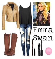 """""""Emma Swan chic"""" by jackrabbit0823 ❤ liked on Polyvore featuring Naturalizer, Marc Jacobs, Smashbox, River Island and plus size clothing"""