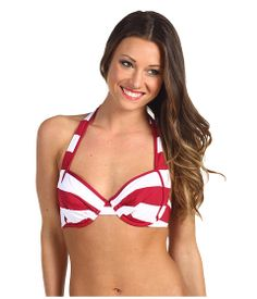 e331156bd6 Tommy bahama sangria rugby stripe u w full coverage foam cup bra at 6pm.com