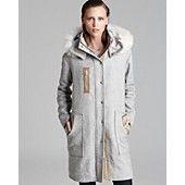 Rebecca Taylor Coat - Shearling Hood