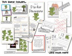 D is for Dinosaurs Preschool Lesson Plans (1 week). Tons of activities and games. A printable preschool easy reader book and word wall cards! So much fun!