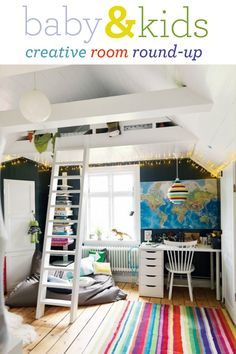 """I would like to do this in Sammi  Bailey's room. Vault the ceiling and put just their beds in the """"attic""""."""
