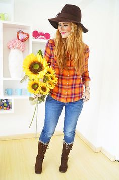 Easy Halloween Costume Scarecrow by the joy of fashion via Flickr  sc 1 st  Pinterest : easy adult costume ideas  - Germanpascual.Com