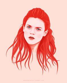 Portrait of Ygritte by Electra Sinclair, via behance