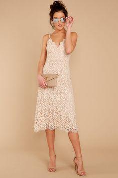 7316a4b2fc6 Sweet White Floral Lace Dress - Lace Midi Sun Dress - Dress -  52.00 – Red