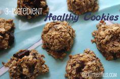 3 Ingredient Healthy Cookies