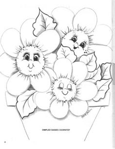 DRAWINGS TO PAINT: Flowers.
