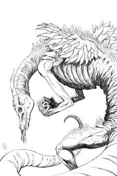 Oceiros, The Consumed King (pencils) from Dark Souls 3!