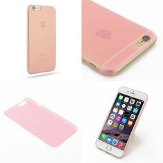 "PDair 0.6mm Ultra thin Plastic Back Case Cover for Apple iPhone 6 (4.7"") (Pink)"