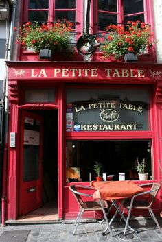 OPTION FOR FRENCH CAFE SIGN.     La Petite Table~France