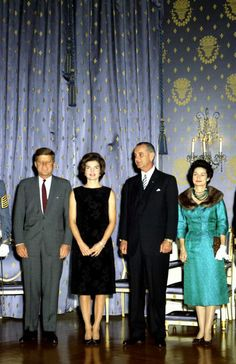 President and Mrs Kennedy with Vice President and Mrs Johnson