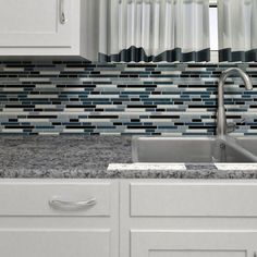 Found it at Wayfair - Ambit Random Sized Glass Mosaic Tile in Marina