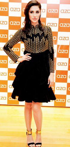 Nargis Fakhri at the Aza store launch in Bandra. #Bollywood #Fashion #Style…
