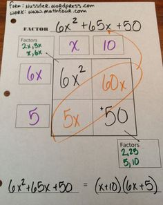 I already do this thanks to the best mentor I ever had Mrs. Wood but I am loving the worksheet. Factoring Polynomials – FREE Worksheet | MathFour: