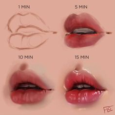 How to draw - human Drawing Tips lips drawing Digital Painting Tutorials, Digital Art Tutorial, Art Tutorials, Digital Paintings, Drawing Tutorials, Drawing Techniques, Drawing Tips, Drawing Ideas, Oil Painting Techniques