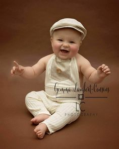 sitter set 'james' flat cap & romper set baby by Crochetbabybunny