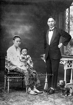Peranakan family in Singapore - 1940s to 1950s