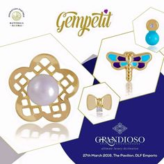 Just 2 more days to go!  We are thrilled to participate in the Grandioso, the exclusive luxury exhibition, on 27th March 2016 at The Pavilion, DLF Emporio, Gurgaon.   Visit Gempetit for exclusive 18kt gold Jewellery for children!  #Gempetit #18kt #Gold #Handcrafted #Grandioso #DLFEmporio #Gurgaon #Delhi #LuxuryExhibition #SpringCollection #SummerCollection #LoveForDaughters #Enamel #Pearl #Diamonds #ForYourLittlePrincesses