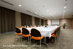 Sunshine Coast Conference & Event venue at Ramada Marcoola Beach. Our Marcoola Beach Meeting and Events venue is suitable for any occasion, call now to book your next event. Conference Facilities, Sunshine Coast, Event Venues, Beach, Table, Furniture, Home Decor, Decoration Home, The Beach