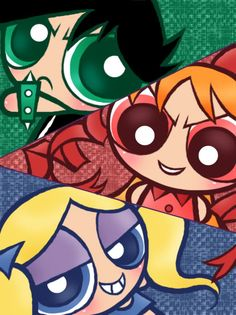 The Powerpunk Girls/Gallery Cartoon Drawings, Cute Drawings, Powder Puff Girls, Cartoon Network Powerpuff Girls, Powerpuff Girls Wallpaper, Anime Toon, Ppg And Rrb, Girls Gallery, Kawaii