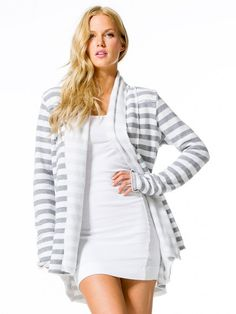 Hard Tail Forever - Stripe Slouchy Cardigan