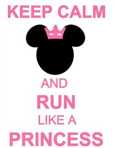 Keep Calm and Run Like a Princess Decal  by CreateCelebrateMagic, $10.00  One of my most popular Pins now available in the Magical Creations & Celebrations Etsy Store!!