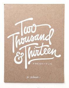 The Urbanic 2013 print in Typography
