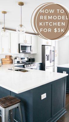 Modern Kitchen Renovation, Modern Kitchen Design, Modern House Design, Home Renovation, Home Remodeling, Kitchen Remodel, Interior Inspiration, Design Inspiration, Diy Home Decor