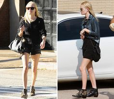 Kate Bosworth in Chloe Susanna boots.