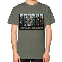 Galactic Bounty Hunter Guild Unisex T-Shirt (on man)