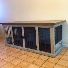 farmhouse double dog kennel