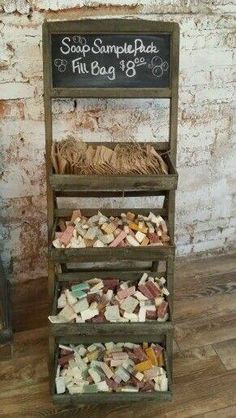 soap samples - you fill the bag