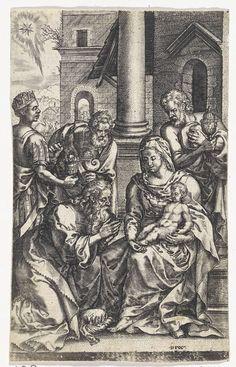 Johannes Wierix | Aanbidding door de koningen, Johannes Wierix, Pieter van der…