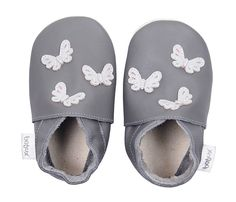 Bobux Baby Shoes - Grey Butterflies