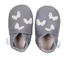 Bobux Baby Shoes - Grey Butterflies
