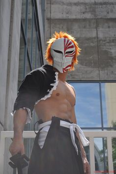 Vizard Ichigo cosplay - A really good cosplay, though it hardly does this form justice. Discovering and developing this power was one of my favorite story lines.