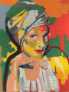 """""""Zoë Willems 2015"""" Acrylic on paper By Karel Willems 1m x 2m"""