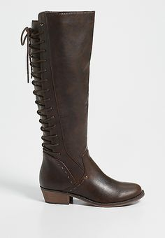 Salene lace up back boot | maurices