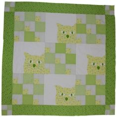 A Happy Kitty Sits in The Corner. Cat Quilt, Quilt Blocks, Cute Cats, Happy Kitty, Corner, Kids Rugs, Quilts, Blanket, Projects