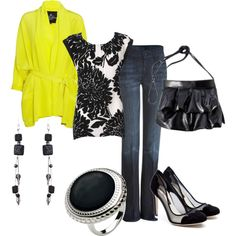 brightening it up with yellow, created by butterfly285 on Polyvore