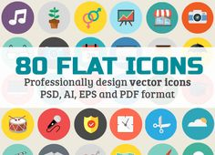 flat icons vector icons set for ui design