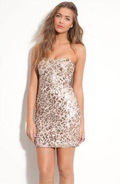 As U Wish 'Secret Charm' Pattern Sequin Dress (Juniors) Vegas Dresses, Prom Dresses, Sequin Dress, Strapless Dress, New Years Dress, She Wolf, Chic Dress, Junior Dresses, Dress Me Up
