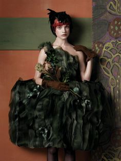 Vogue US - May 2007 - Fashioning the Century by Hamish Bowles - Model: Natalia Vodianova - Styled by Grace Coddington - Photo by Steven Meisel