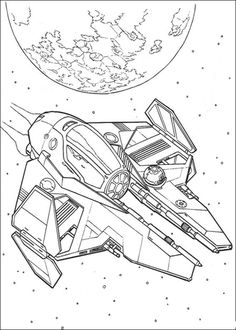 Jedi eta-2 starfighter coloring page from Revenge of the Sith category. Select from 25683 printable crafts of cartoons, nature, animals, Bible and many more.