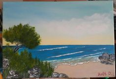 Akrylik painting on canvas Acrylic Painting Canvas, Painting Art, Beach, Water, Outdoor, Water Water, Outdoors, Seaside, Outdoor Games