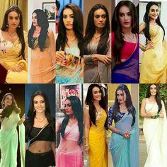 Bela .. Saree Tassels Designs, Half Saree Designs, Silk Saree Blouse Designs, Sabyasachi Sarees, Bollywood Saree, Indian Bridal Outfits, Indian Designer Outfits, Saree Gown, Sari